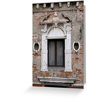 windows of Venice 7 Greeting Card