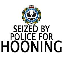 Seized by police for Hooning - SA Police Photographic Print