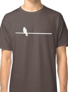 Bird on a Wire (white) Classic T-Shirt