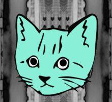 Geometric Kitty Sticker