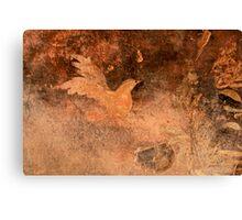 Bird designed on wall Canvas Print