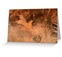 Bird designed on wall Greeting Card