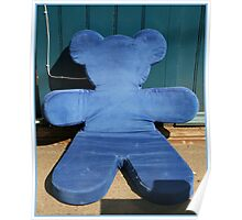 Blue teddy bear Poster