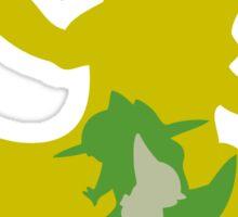 PKMN Silhouette - Axew Family Sticker