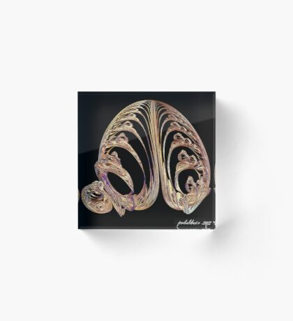 """Tail of the Trebibzond Bird"" Acrylic Block"