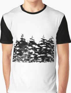 Pines Laden with Snow  Graphic T-Shirt