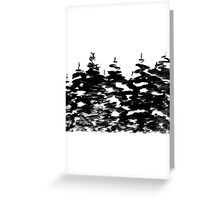 Pines Laden with Snow  Greeting Card