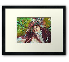 SARAH IS FREE TO FLY Framed Print