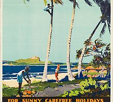 Vintage poster - Australia by mosfunky