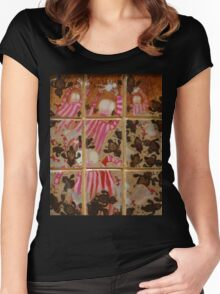 Moses And The Quail - Abstract Women's Fitted Scoop T-Shirt