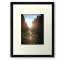 Sunset on Crag Path Framed Print