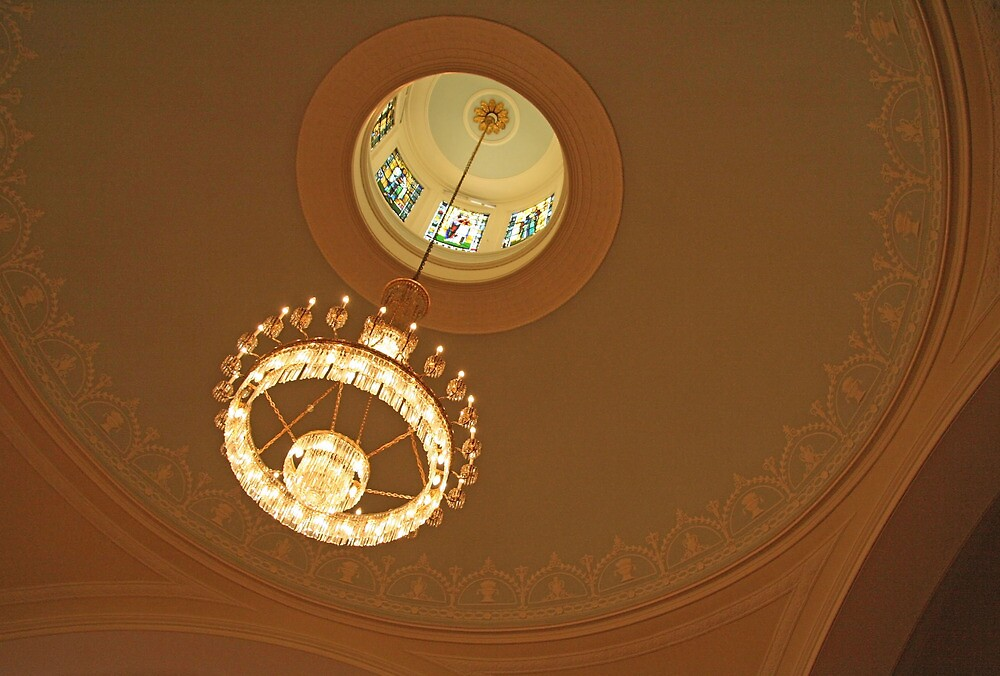 A Chandelier Inside Saint John's by Cora Wandel