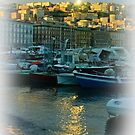 Sundown at the port of Mergellina / Naples / Italy by Rachel Veser
