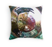 Through Glass Brightly Throw Pillow