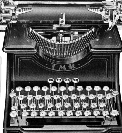 The Madison Review Typewriter Sticker