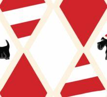 Scottie Dog Christmas Pattern Sticker