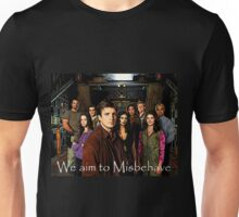We aim to Misbehave Unisex T-Shirt