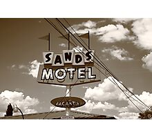 Route 66 - Sands Motel Photographic Print