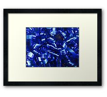 Blue Curly Ribbons Framed Print