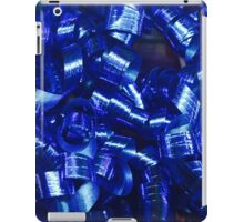 Blue Curly Ribbons iPad Case/Skin