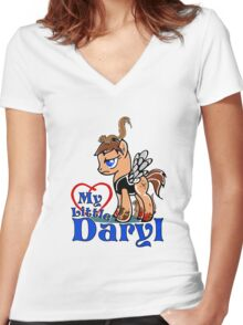 My Little Daryl Pony Women's Fitted V-Neck T-Shirt