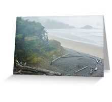 Indian Beach at Ecola State Park Greeting Card