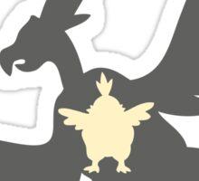 PKMN Silhouette - Vullaby Family Sticker