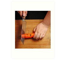 Decapitation of a Carrot Art Print