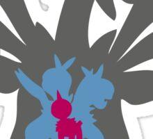 PKMN Silhouette - Deino Family Sticker