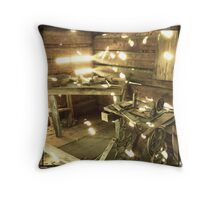 The Moonshiner's Cabin Throw Pillow