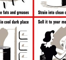 Save Waste Fats - WWII Propaganda Sticker