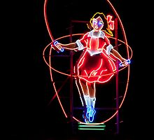 Neon Sign, Skipping Girl Vinegar, Melbourne, Australia  by Jane McDougall