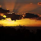 Sunset over Perth City WA by Andy and Von Quinn