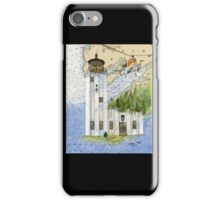 Cape Hinchinbrook AK Lighthouse USCG Helicopter iPhone Case/Skin