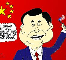 Xi Jinping political cartoon by Binary-Options