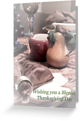 Blessed Thanksgiving Day by Sherry Hallemeier