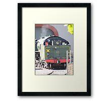 Steam Ranger Warming Up Framed Print