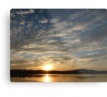 Inch Island Winter Sunset Metal Print