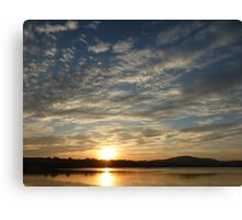 Inch Island Winter Sunset Canvas Print