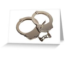 Hand Cuffs - Get matching keys shirt! Greeting Card