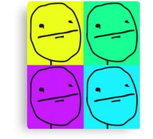 Poker face meme rageface poster Canvas Print