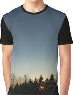 Cloudless winter Sunset Graphic T-Shirt