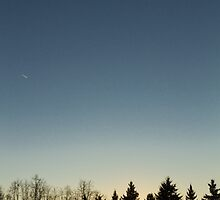 Cloudless winter Sunset by renman1