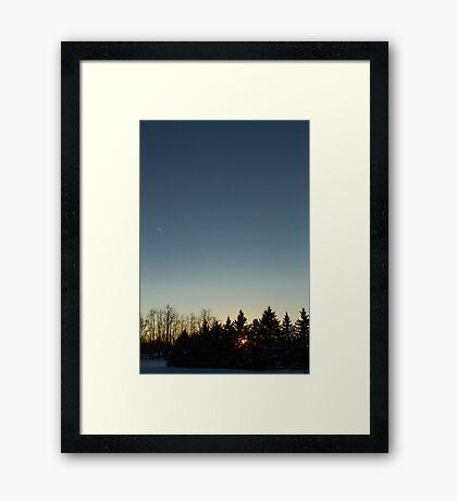 Cloudless winter Sunset Framed Print