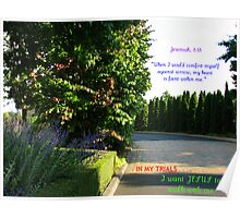 I Want Jesus To Walk With Me Poster