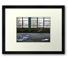 Chair Left Behind Framed Print