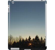 Cloudless winter Sunset iPad Case/Skin
