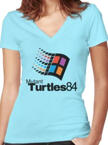 Turtles 84 Women's Fitted V-Neck T-Shirt