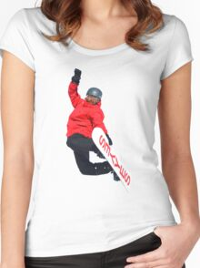 Snowboarder Women's Fitted Scoop T-Shirt