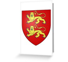 Coat of Arms of Normandy Greeting Card